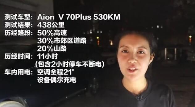 """Aion V续航""""全球""""首测,11小时不断电跑438公里!"""
