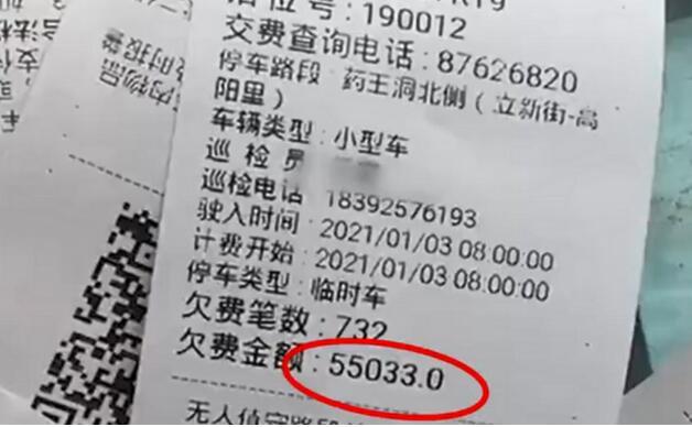 报废车停路边被催缴5.5万停车费,工作人员解释,网友都说没毛病!